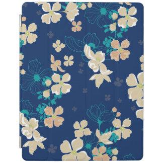 Cubierta De iPad Beige y verde azulado florales