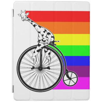 Cubierta De iPad Bici del arco iris de la jirafa