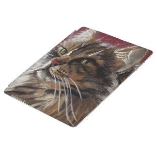 Cubierta De iPad Caso hermoso del gato de Coon de Maine del soñador