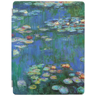 Cubierta De iPad Charca del lirio de agua en la bella arte azul de