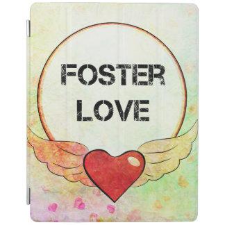 Cubierta De iPad Corazón adoptivo de la acuarela del amor