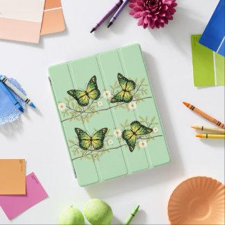 Cubierta De iPad Cuatro mariposas verdes