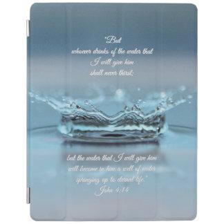 Cubierta De iPad Del agua azul de la vida verso Juan de la biblia