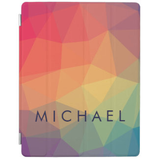 Cubierta De iPad El triángulo poligonal elegante coloreado añade su