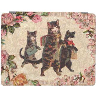 Cubierta De iPad Gatito antiguo bonito de los gatos del vintage