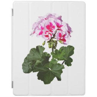 Cubierta De iPad Geranio rojo y rosado