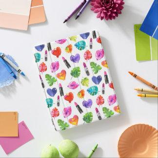 Cubierta De iPad Lápices labiales del beso del perno de las hojas