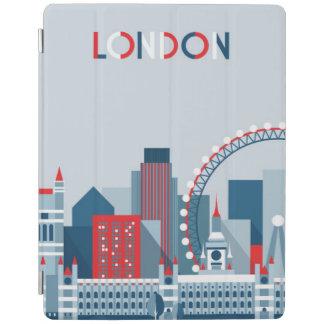 Cubierta De iPad Londres, Inglaterra horizonte rojo, blanco y azul