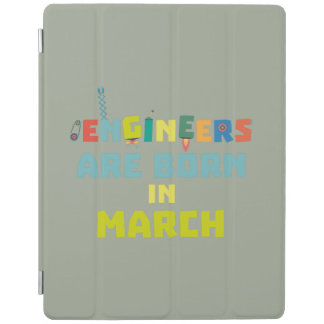 Cubierta De iPad Los ingenieros son en marzo Za0s2 nacidos