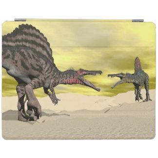 Cubierta De iPad Lucha del dinosaurio de Spinosaurus - 3D rinden