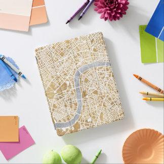 Cubierta De iPad Mapa dorado de la ciudad de Londres