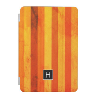 Cubierta De iPad Mini Caliente el monograma resistido de las rayas del