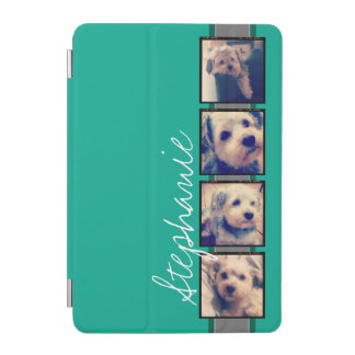 Cubierta De iPad Mini Collage de la foto con nombre del personalizado