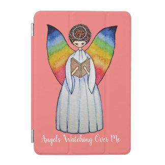 Cubierta De iPad Mini El ángel de la acuarela con el arco iris se va