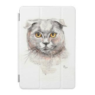 Cubierta De iPad Mini Gato del doblez del escocés