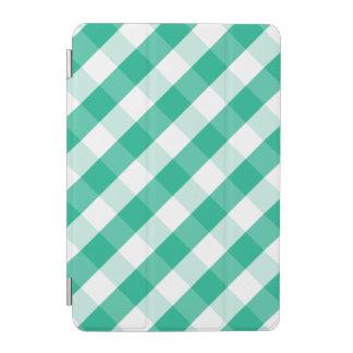 Cubierta De iPad Mini Modelo blanco verde simple de la guinga de St