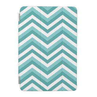 Cubierta De iPad Mini Modelo de zigzag acuático del galón de la turquesa