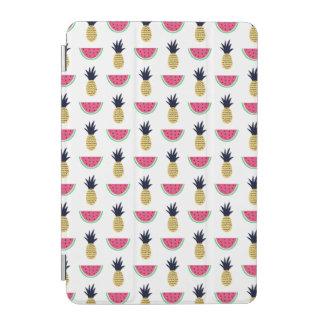 Cubierta De iPad Mini Modelo lindo del Doodle de la piña y de la sandía