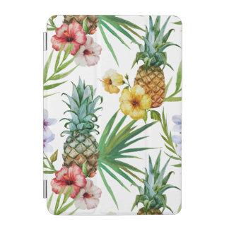 Cubierta De iPad Mini Modelo tropical de la piña de la acuarela del tema