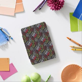 Cubierta De iPad Mini Pequeña Srta. Bad modelo negro, rojo y amarillo
