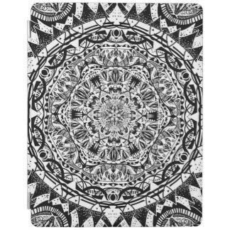 Cubierta De iPad Modelo blanco y negro de la mandala