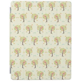 Cubierta De iPad Modelo de árboles y de pájaros