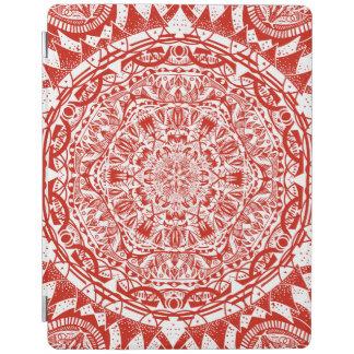 Cubierta De iPad Modelo rojo de la mandala