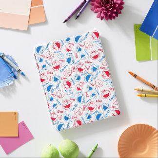 Cubierta De iPad Monstruo y Elmo de la galleta modelo rojo y azul
