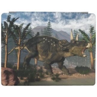 Cubierta De iPad Nedoceratops que ruge mientras que corre - 3D