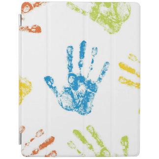 Cubierta De iPad Niños Handprints en pintura