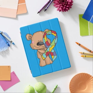 Cubierta De iPad Oso de la conciencia del autismo