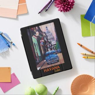 Cubierta De iPad Poster retro de Havanna Cuba