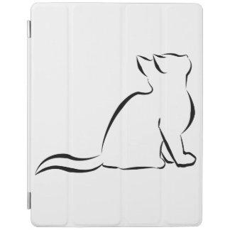 Cubierta De iPad Silueta del gato negro