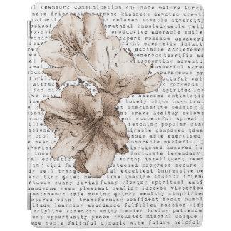 Cubierta De iPad Usted es mi flor de Brown del café de la