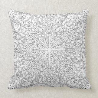 Cubierta de la almohada que ofrece el dibujo