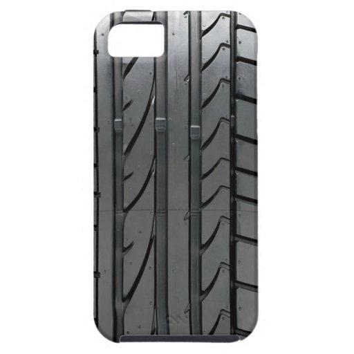 Cubierta de la caja del neumático de coche del aut iPhone 5 carcasas