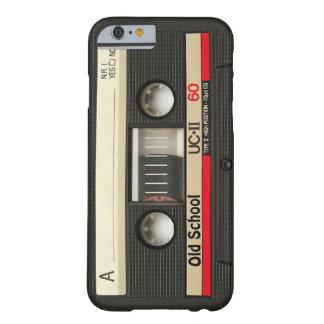cubierta de la cinta de casete de la escuela vieja funda de iPhone 6 barely there