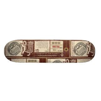 Cubierta de la etiqueta del equipaje de la bujía m monopatines personalizados