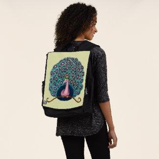 Cubierta de la mochila del pavo real