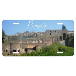 Cubierta de la placa de Pompeya Italia