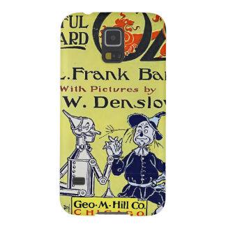 Cubierta de libro de mago de Oz del vintage Funda Galaxy S5