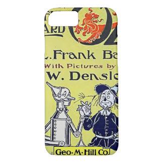 Cubierta de libro de mago de Oz del vintage Funda iPhone 7