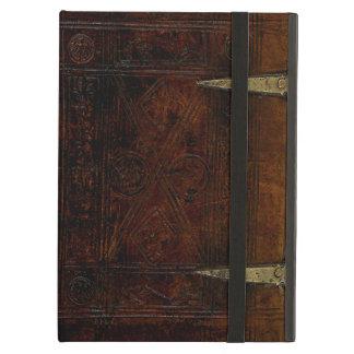 Cubierta de libro grabada límite antiguo del cuero