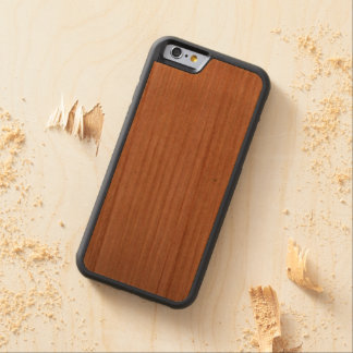 Cubierta de madera del iphone funda protectora de cerezo para iPhone 6 de carved