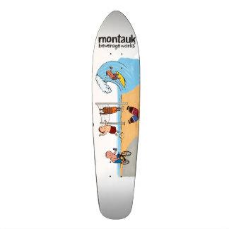Cubierta de Montauk BeverageWorks Longboard Patinetas Personalizadas