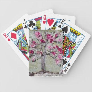 Cubierta de tarjetas.  Diseño del árbol de la Baraja De Cartas Bicycle