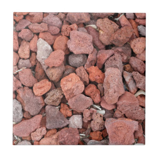 Cubierta de tierra roja de las rocas volcánicas azulejo de cerámica