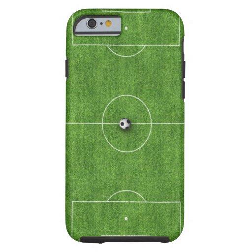 Cubierta del caso del campo de fútbol funda de iPhone 6 tough
