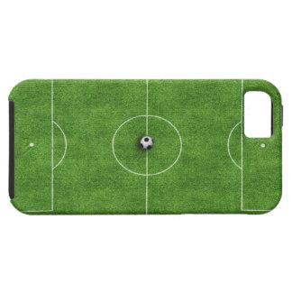 Cubierta del caso del campo de fútbol iPhone 5 protector