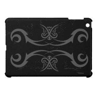 Cubierta del caso del iPad negro y gris del